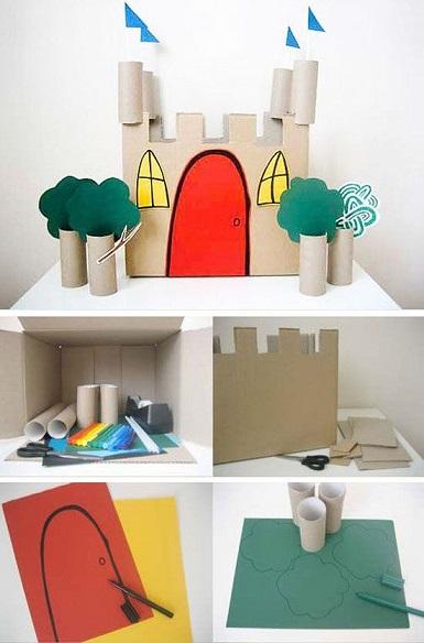 castelo de papelão