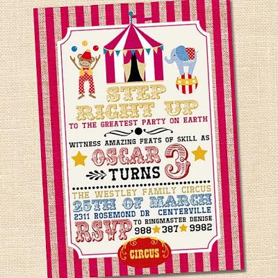 20 inspirações para festinha tema circo