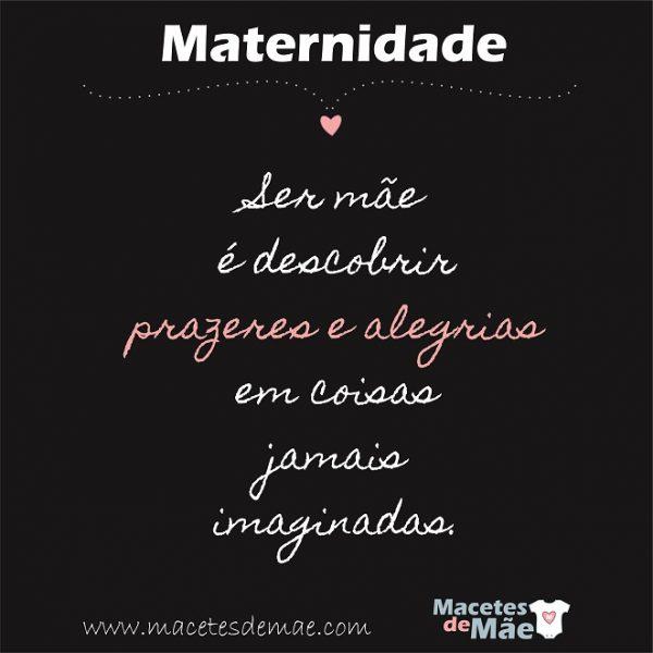 maternidade - ser mae e descobrir prazeres e alegrias