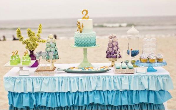 mesa de doces festa praia