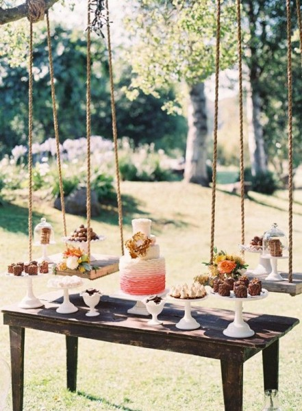 mesa de doces suspensa