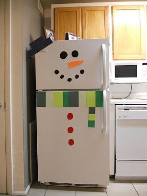 geladeira enfeitada para natal
