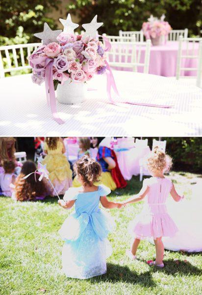 enfeite de mesa festa princesas