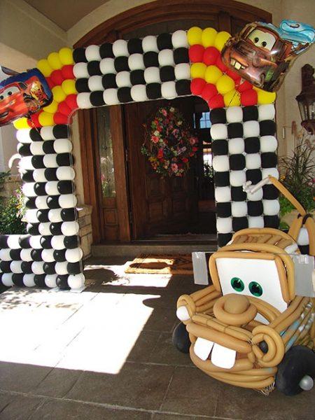 Festa Carros Disney - decoração
