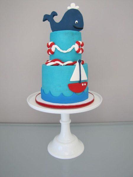 bolo para cha de bebe baleia barquinho