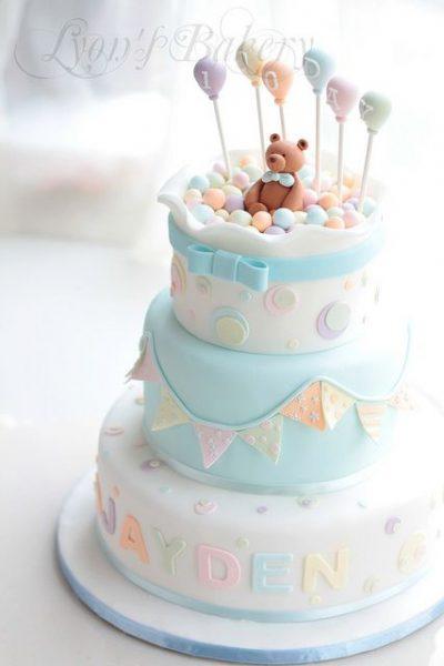 bolo para cha de bebe ursinho
