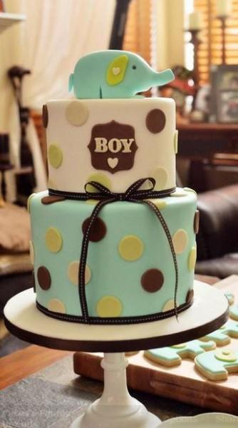 bolo para cha de bebe elefantinho para menino