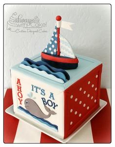 bolo para cha de bebe menino