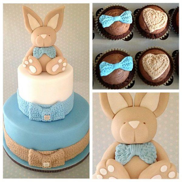 bolo para cha de bebe coelho