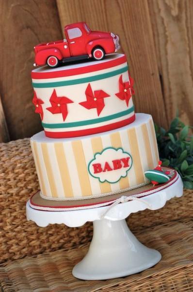 bolo para cha de bebe caminhao