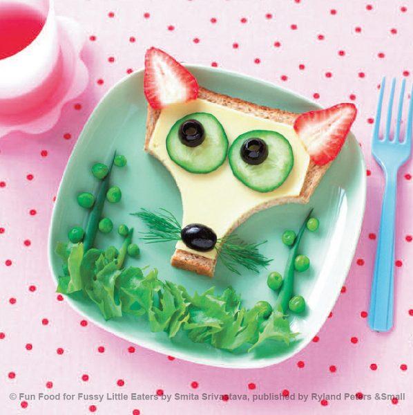 Sanduíche divertido para crianças