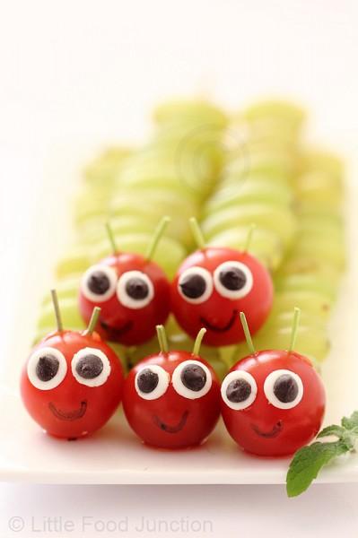 lanche divertido de frutas