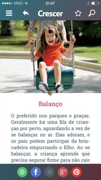 Guia de brincadeiras Crescer - Balanco