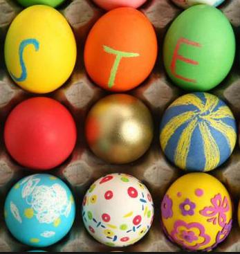 ovos de pascoa pintados