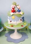 24 ideias de bolos para festa Peppa Pig