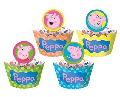 forminha cupcake e pick peppa pig