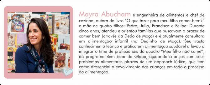 Colunista MdM Mayra - Alimentacao
