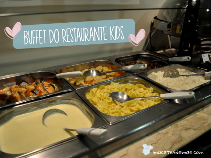 buffet do restaurante kids