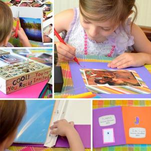 scrapbook para criancas