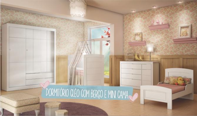 Dormitorio Cleo com berco e mini cama