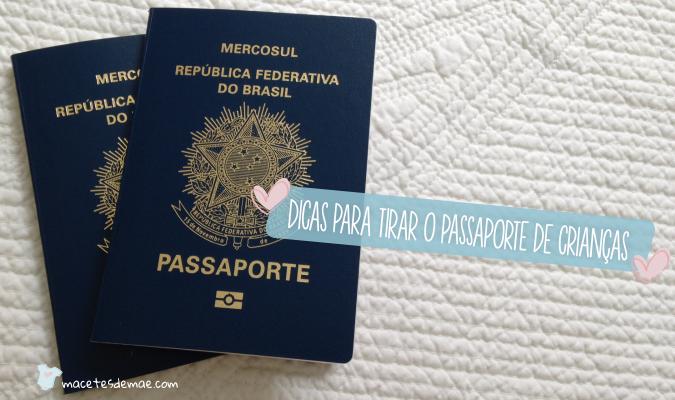 dicas para tirar o passaporte das criancas