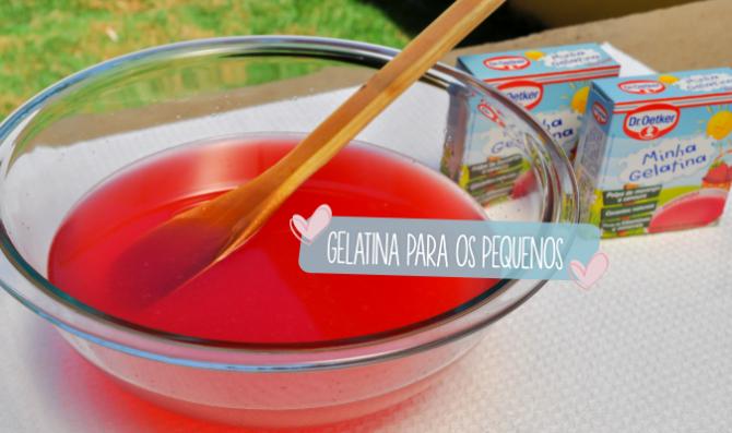 gelatina para os pequenos