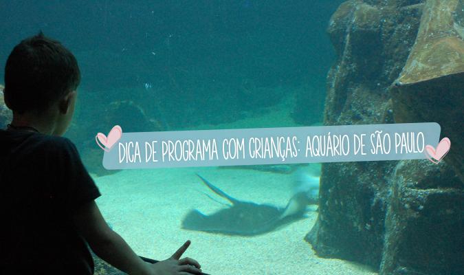 dica de programa com criancas - aquario