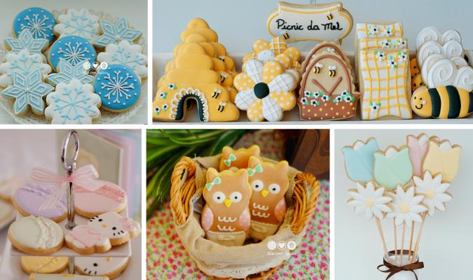 biscoitos decorados em festas infantis