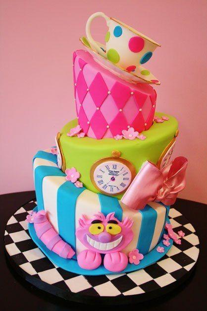 bolo festa alice no pais das maravilhas (3)