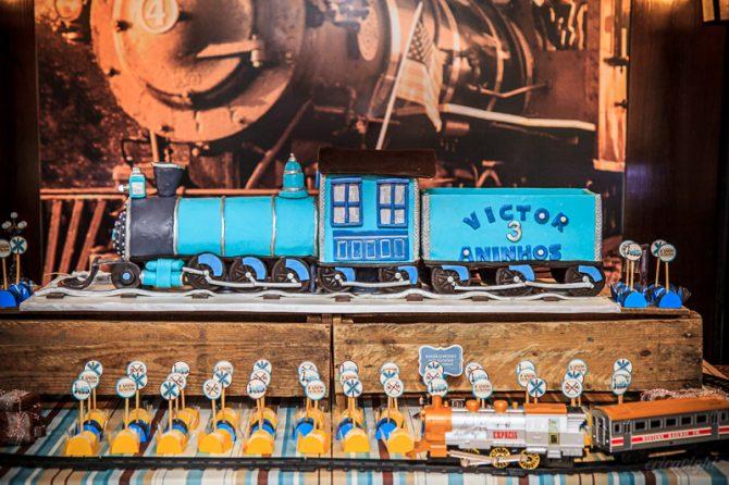 Aniversário de três aninhos do Victor, com decoração no tema Estação de Trem Antiga. Evento fotografado dia 25.10.2014. Fotos por éricavighi