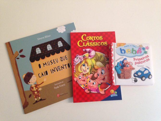 foto livros recebidos