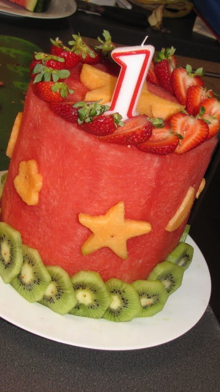 all fruit birthday cake - photo #3