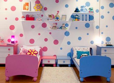 Ideias para usar papel de parede em quartos infantis 5