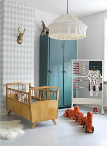 Ideias para usar papel de parede em quartos infantis 8