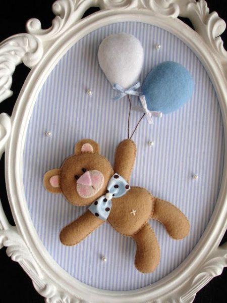 Enfeite de porta de maternidade | Macetes de Mãe