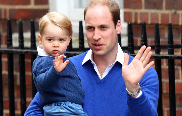 Príncipe William e seu filho George. Foto: divulgação