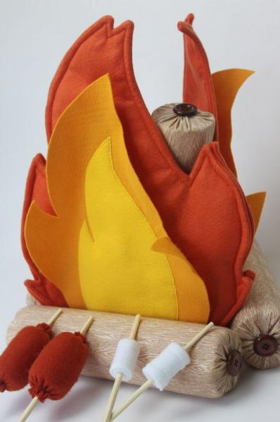 fogueira em feltro