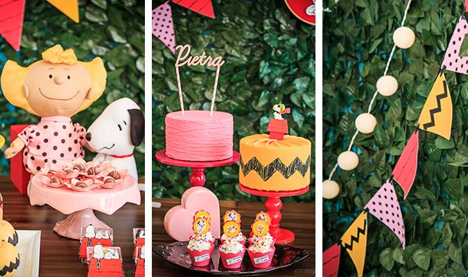 Festa Snoopy – inspiração linda e delicada