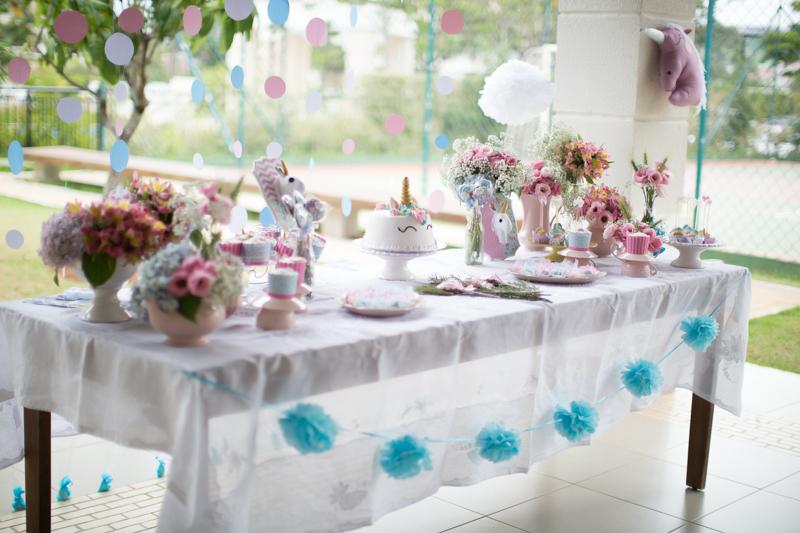 Festa tema Unicórnios mágica e linda! -> Decoração De Festa Infantil Tema Unicornio