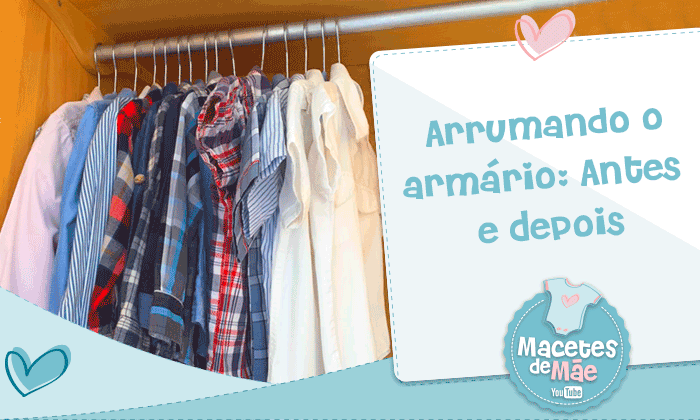 organizar guarda roupas de criança