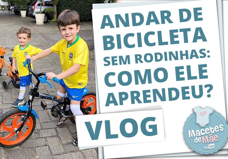 andar de bicicleta sem rodinhas