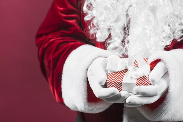 chupeta para o Papai Noel