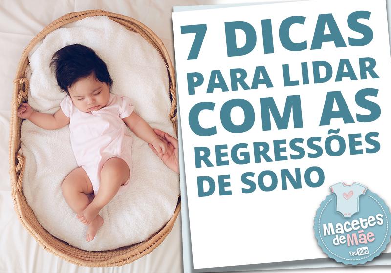 regressão de sono do bebê