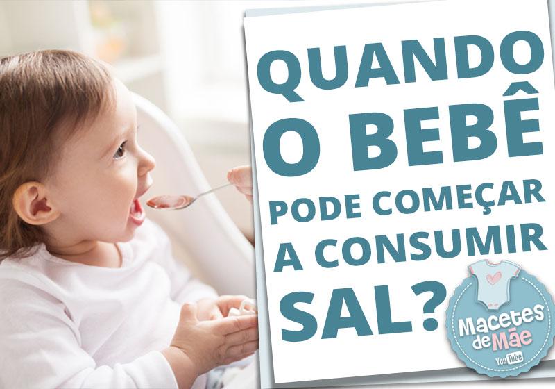 bebê pode consumir sal