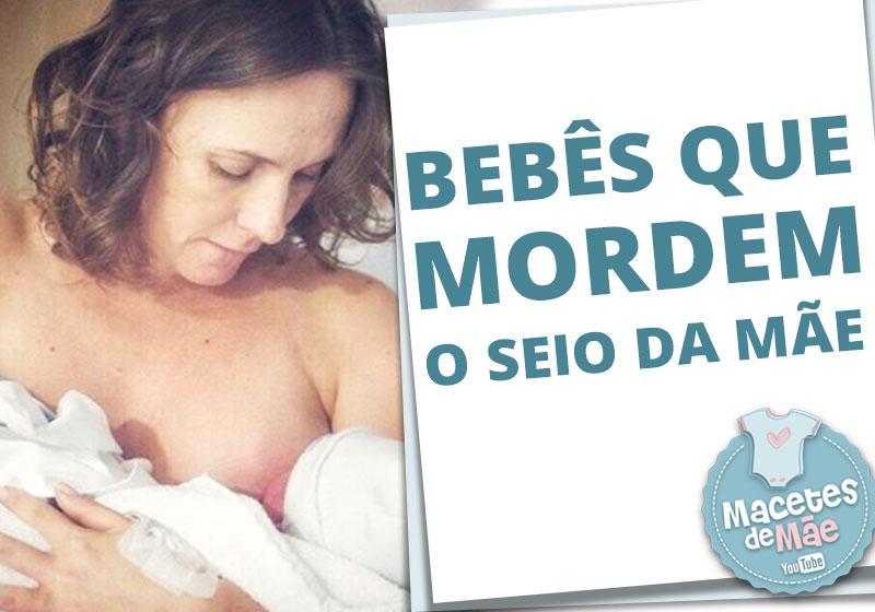 bebês que mordem o seio