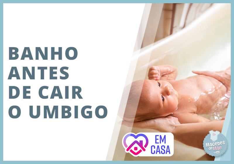 banho no bebê antes do umbigo cair