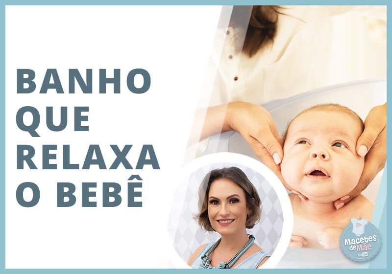 banho que relaxa o bebê