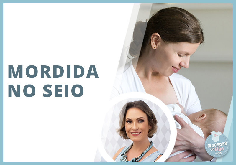 Bebê que morde o seio da mãe quando mama