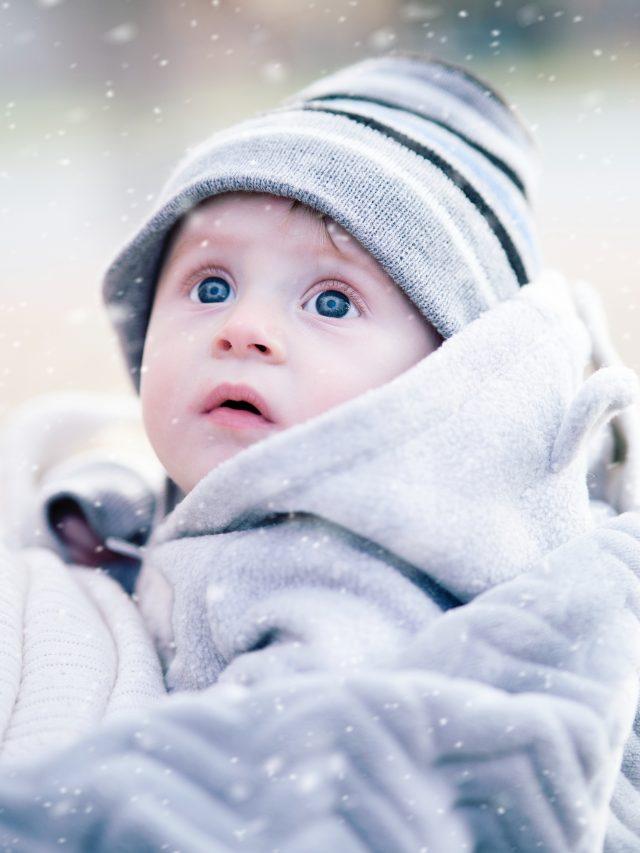Cuidados com a pele do bebê no frio